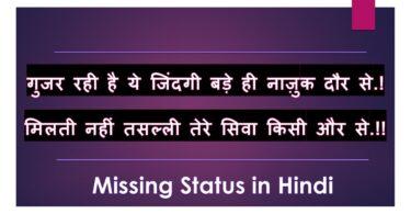 Missing Status in Hindi Shayari